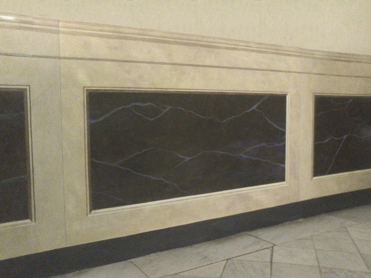 Finiture e materiali francesca bruni pittrice for Piastrelle finto marmo